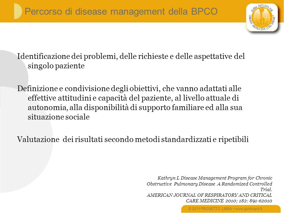 Percorso di disease management della BPCO