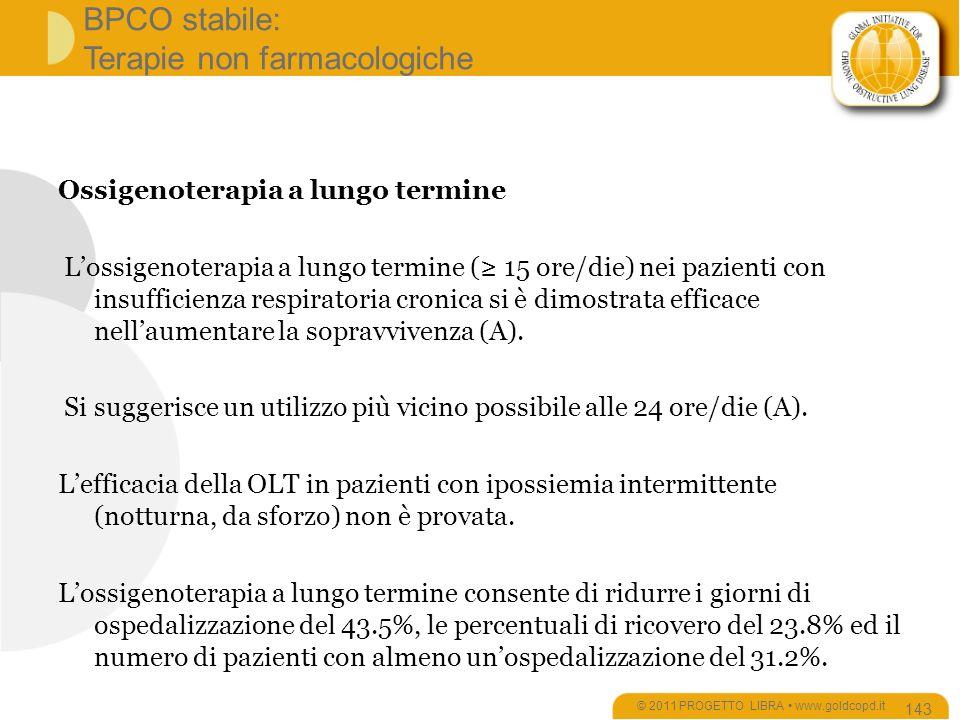 BPCO stabile: Terapie non farmacologiche