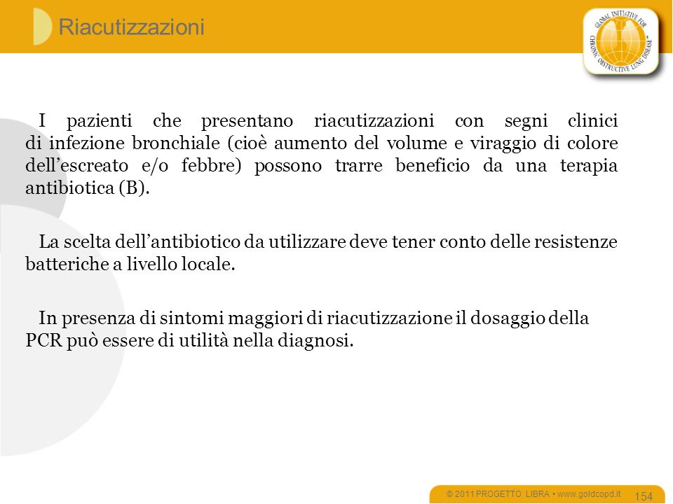 © 2011 PROGETTO LIBRA • www.goldcopd.it