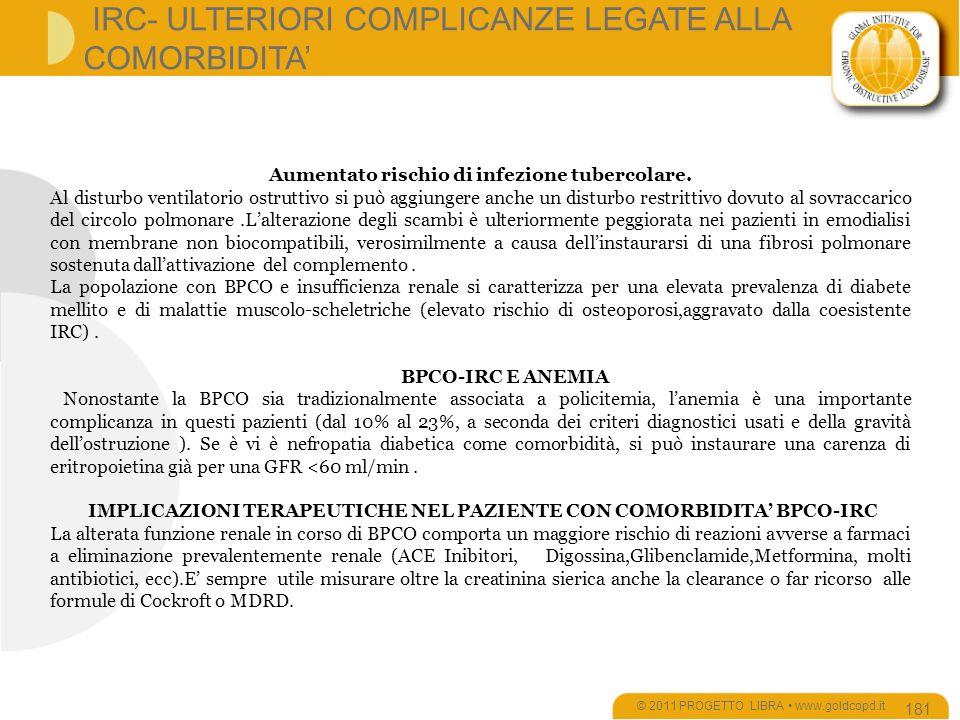 IRC- ULTERIORI COMPLICANZE LEGATE ALLA COMORBIDITA'