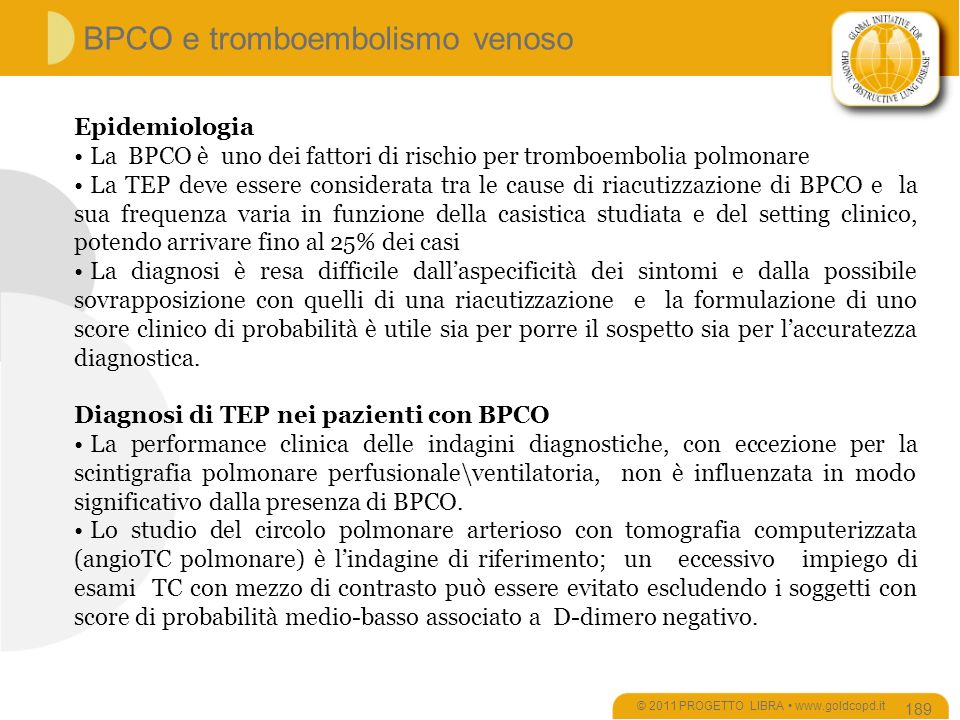 BPCO e tromboembolismo venoso