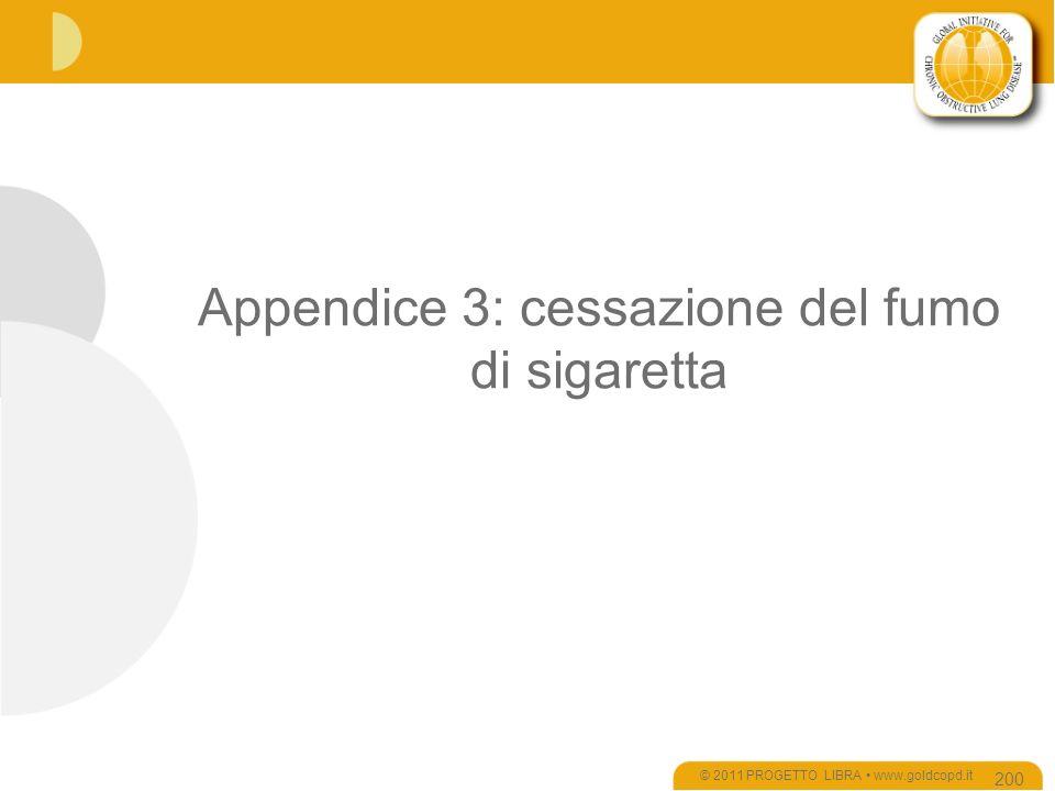 Appendice 3: cessazione del fumo di sigaretta