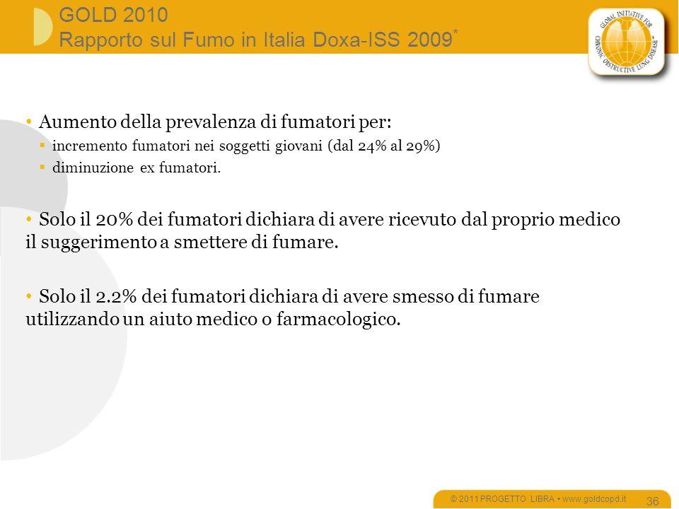 GOLD 2010 Rapporto sul Fumo in Italia Doxa-ISS 2009*