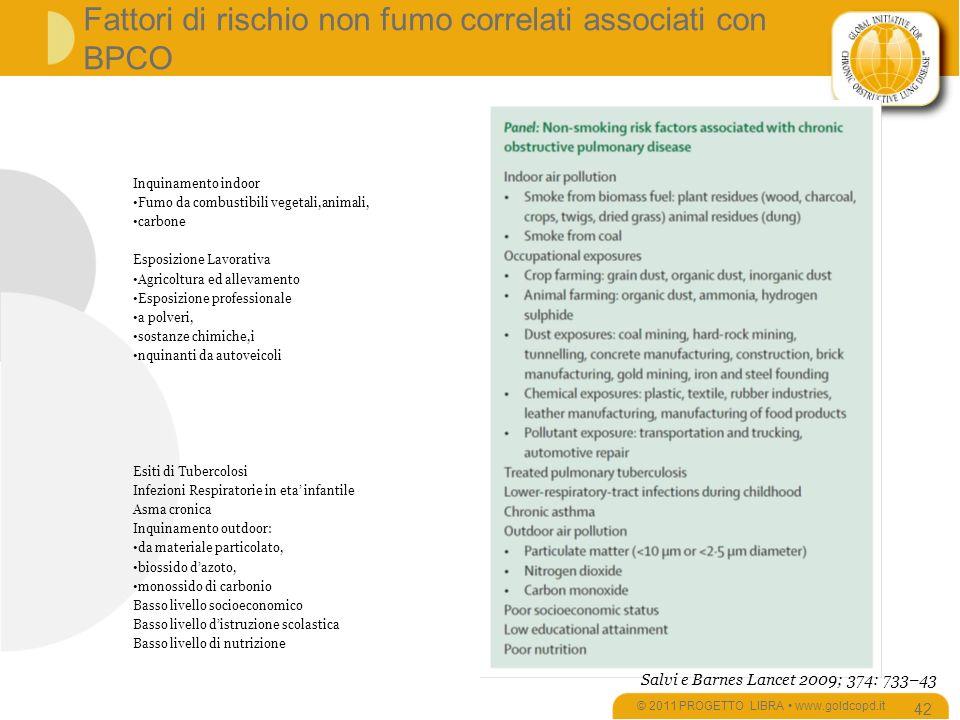 Fattori di rischio non fumo correlati associati con BPCO