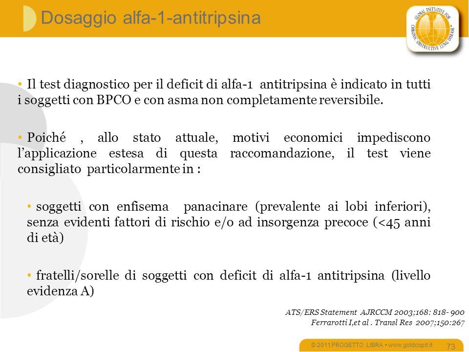 Dosaggio alfa-1-antitripsina