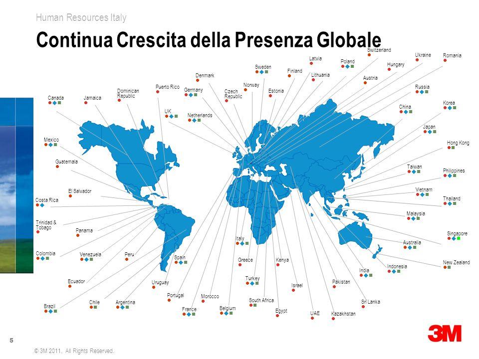 Continua Crescita della Presenza Globale