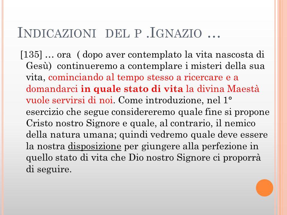 Indicazioni del p .Ignazio …