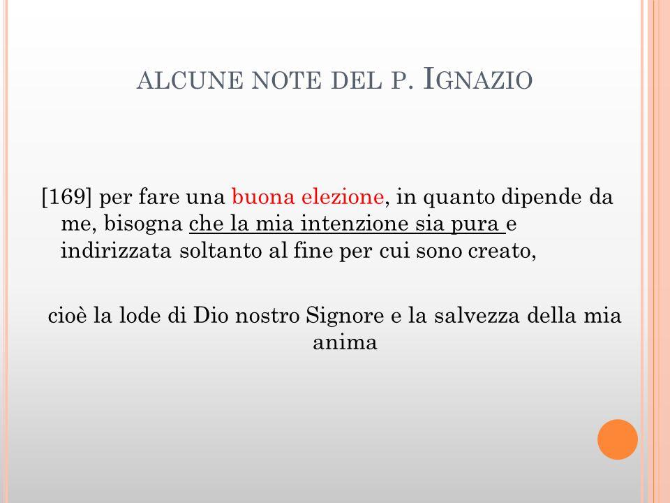 alcune note del p. Ignazio