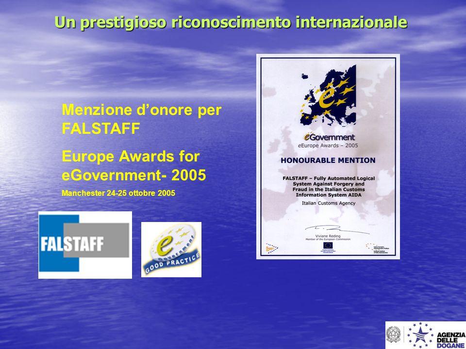 Un prestigioso riconoscimento internazionale