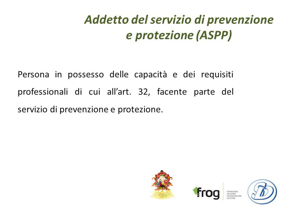 Addetto del servizio di prevenzione e protezione (ASPP)