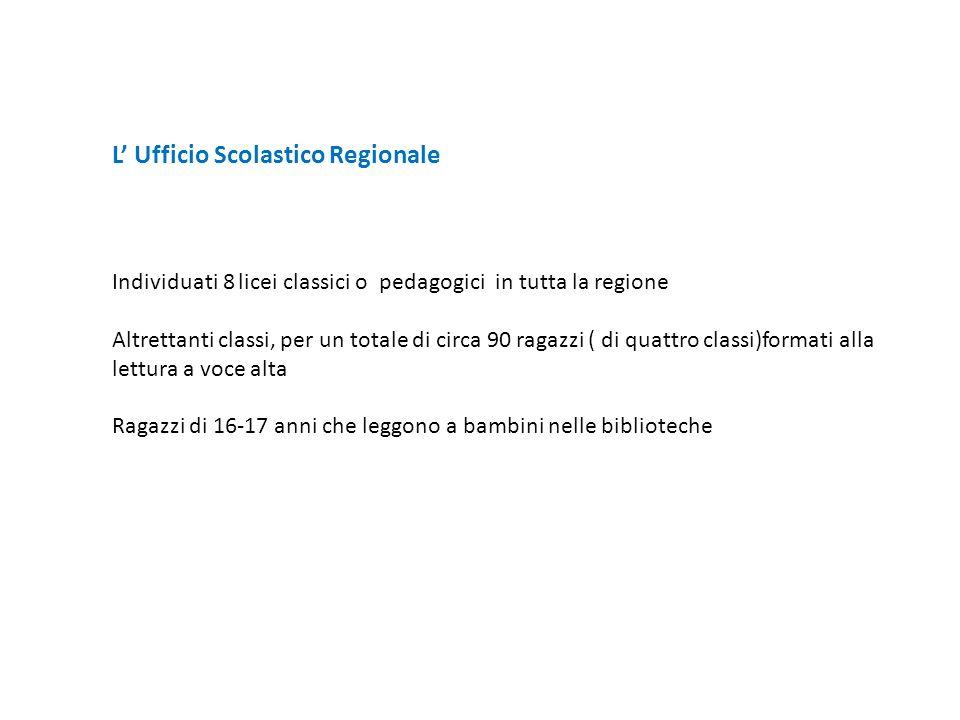 L' Ufficio Scolastico Regionale