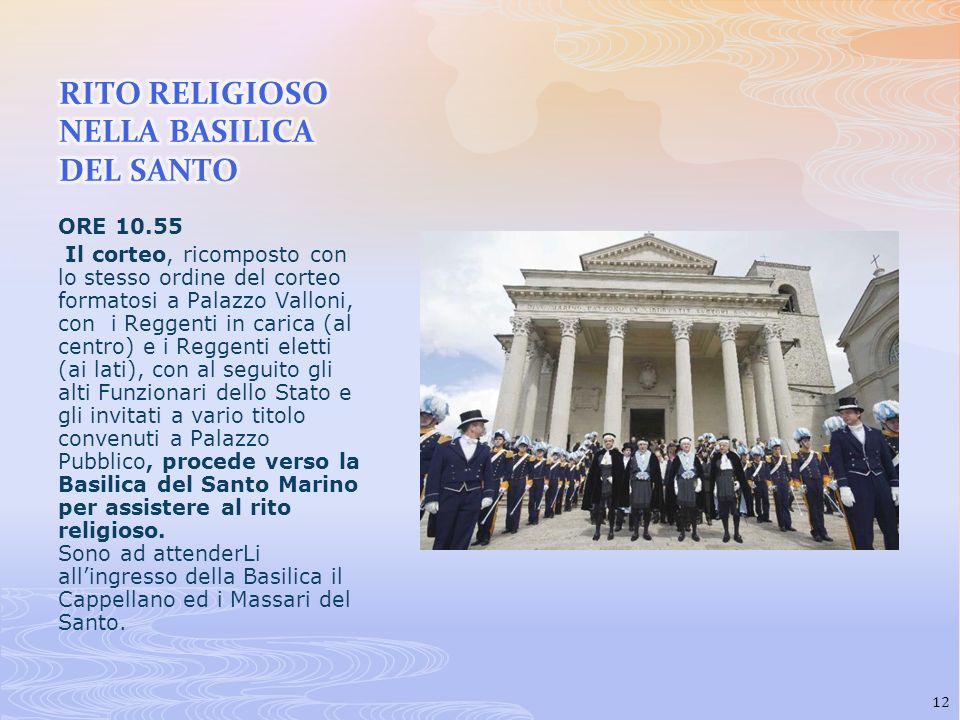 RITO RELIGIOSO NELLA BASILICA DEL SANTO