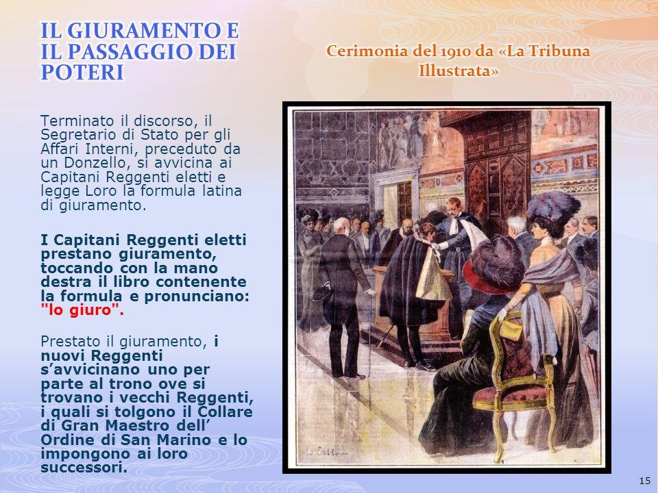 Cerimonia del 1910 da «La Tribuna Illustrata»