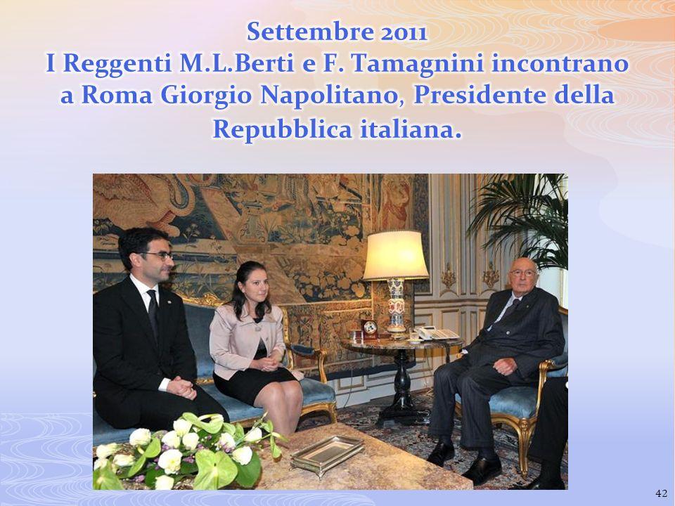 Settembre 2011 I Reggenti M. L. Berti e F