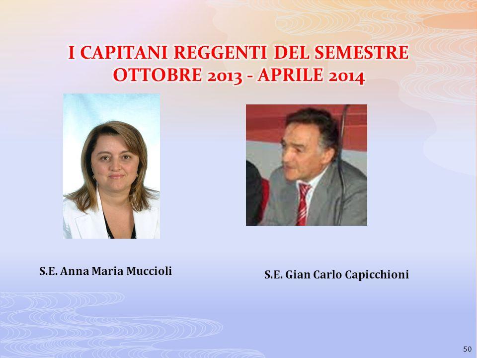 I CAPITANI REGGENTI DEL SEMESTRE OTTOBRE 2013 - APRILE 2014