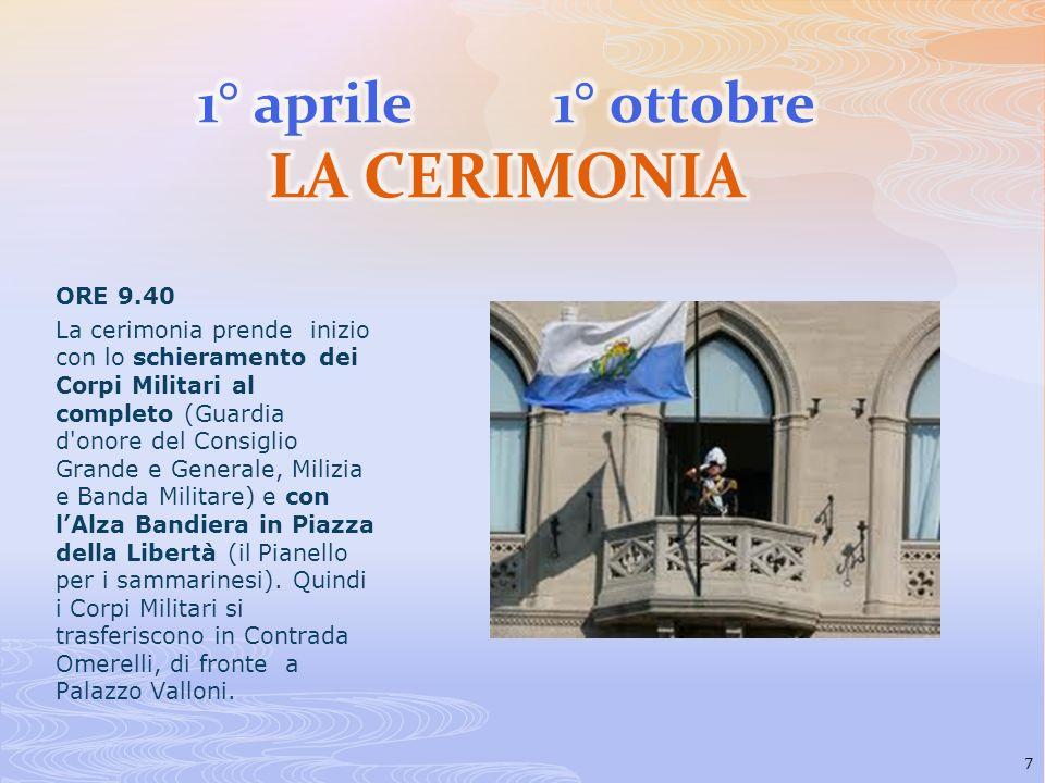 1° aprile 1° ottobre LA CERIMONIA
