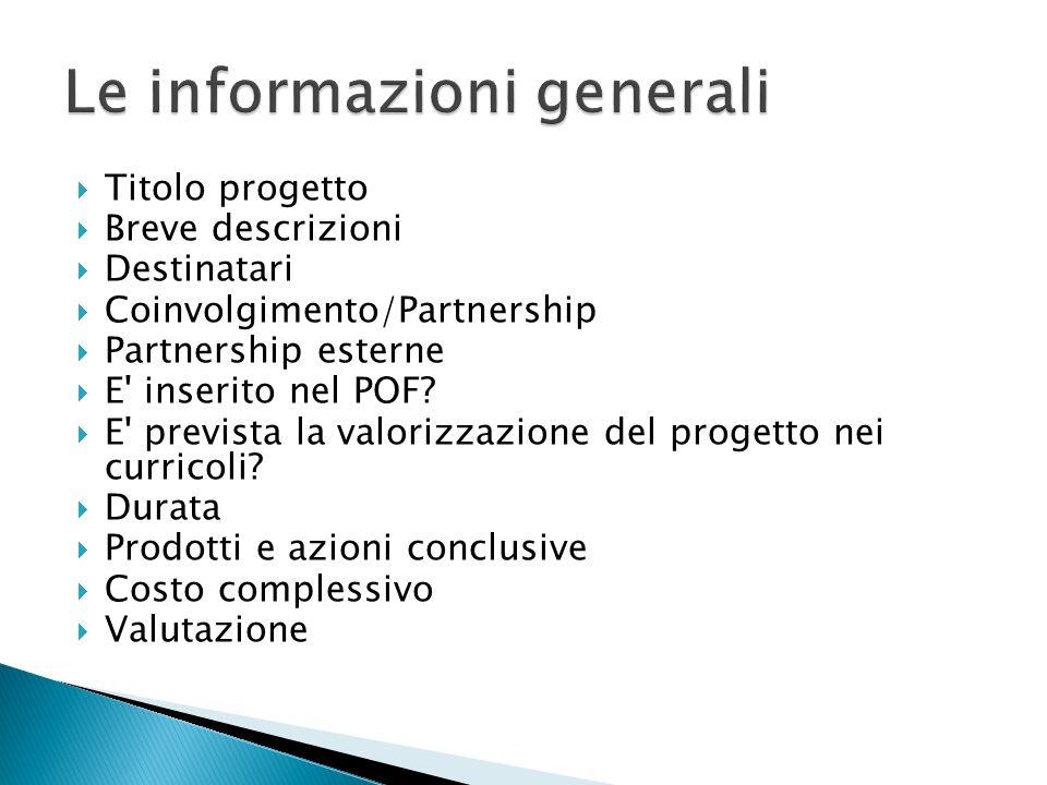 Le informazioni generali