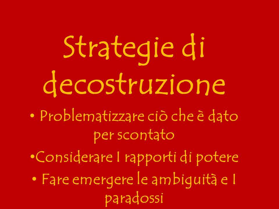 Strategie di decostruzione