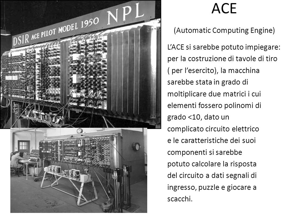 ACE (Automatic Computing Engine)
