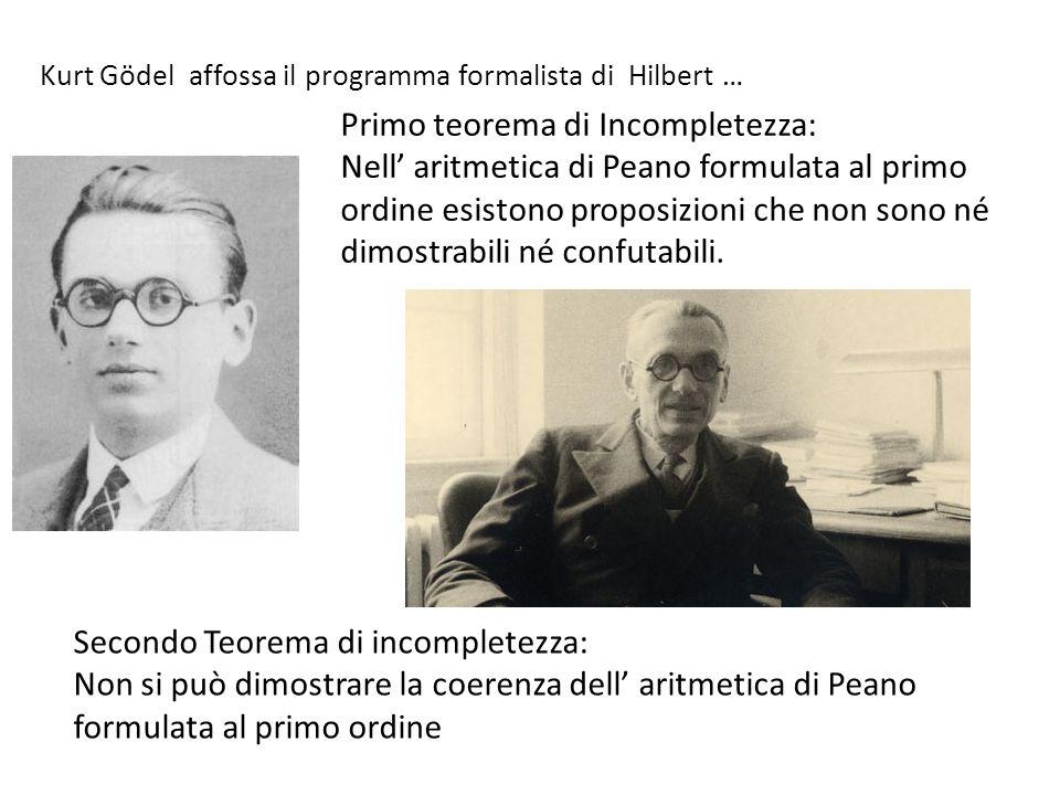 Primo teorema di Incompletezza: