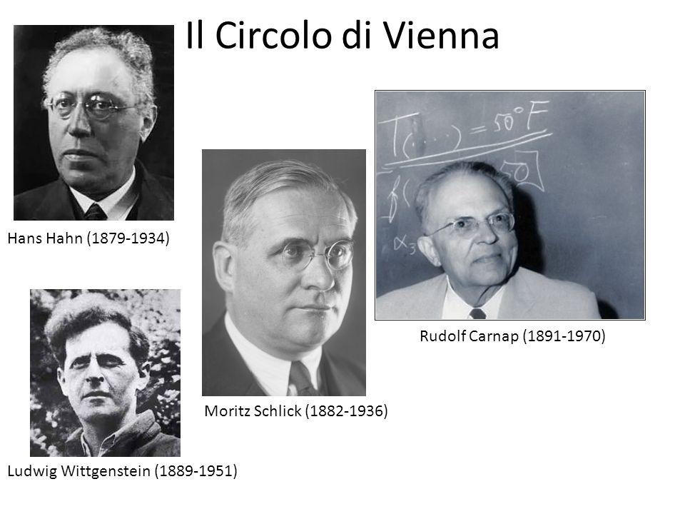 Il Circolo di Vienna Hans Hahn (1879-1934) Rudolf Carnap (1891-1970)