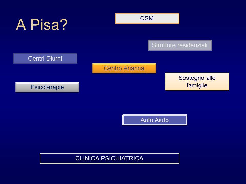 A Pisa CSM Strutture residenziali Centri Diurni Centro Arianna