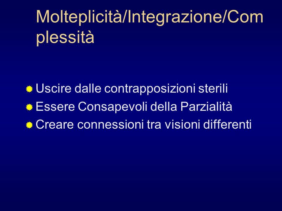 Molteplicità/Integrazione/Complessità