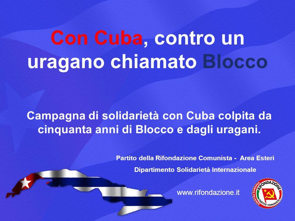 Con Cuba, contro un uragano chiamato Blocco