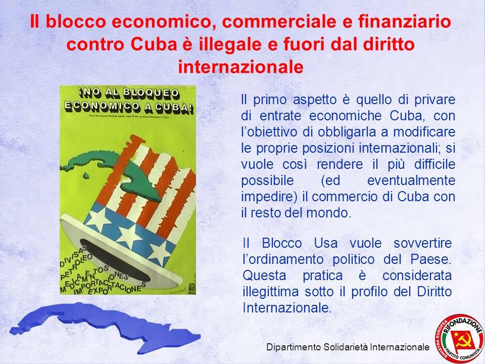 Il blocco economico, commerciale e finanziario contro Cuba è illegale e fuori dal diritto internazionale