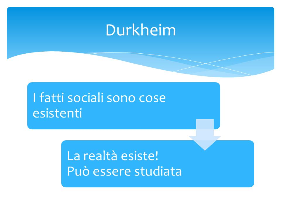 Durkheim I fatti sociali sono cose esistenti