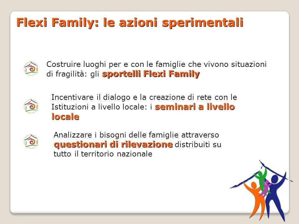 Flexi Family: le azioni sperimentali