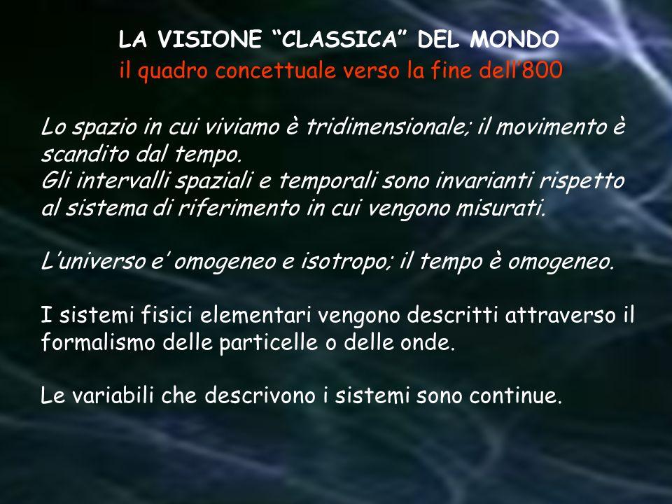 LA VISIONE CLASSICA DEL MONDO