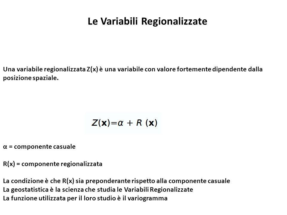 Le Variabili Regionalizzate
