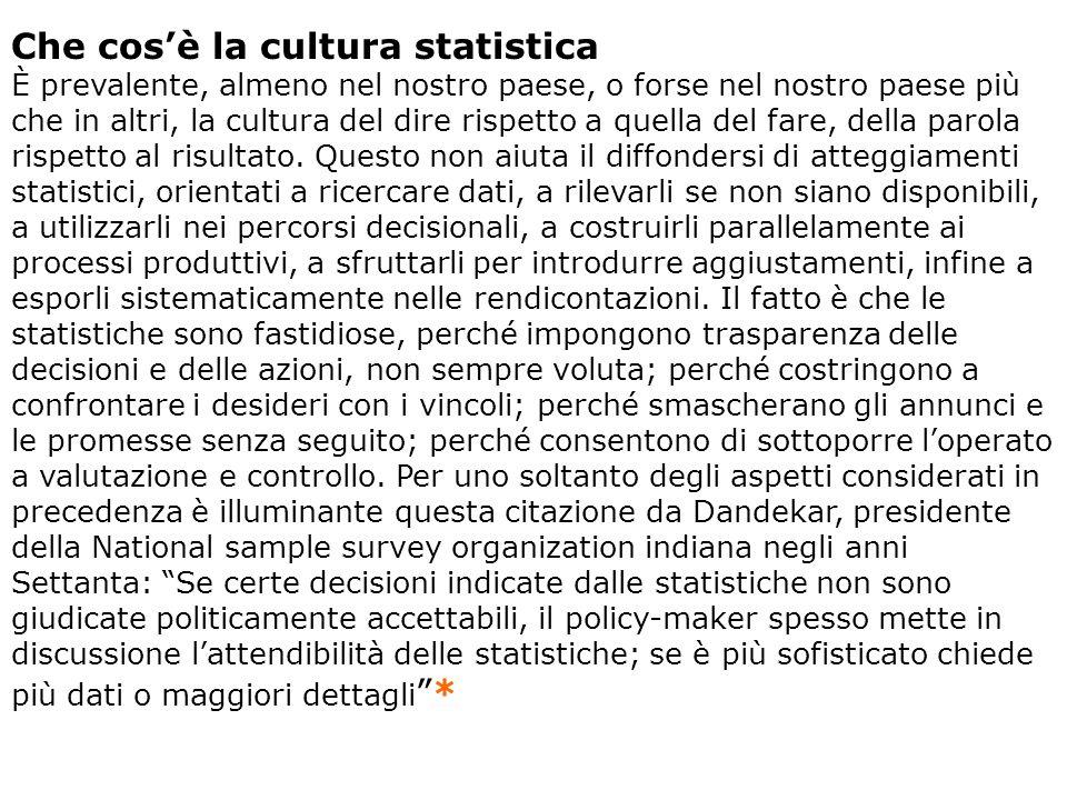 Che cos'è la cultura statistica
