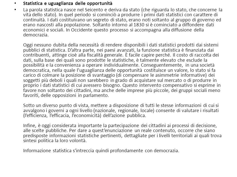 Spazio tempo e numeri la cultura statistica in italia for Costo per costruire sul proprio lotto