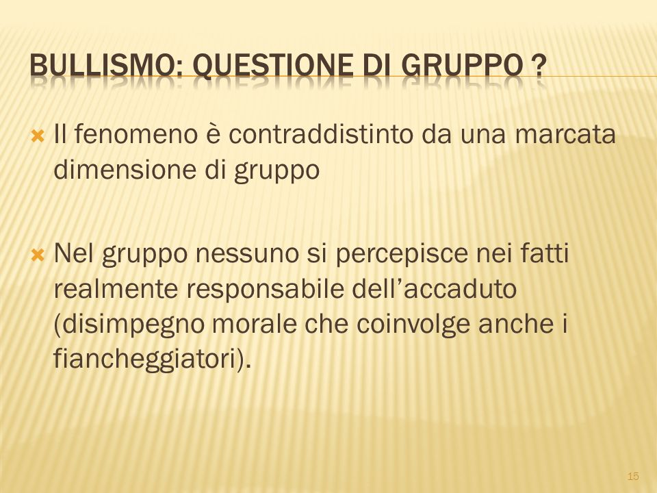Bullismo: questione di gruppo