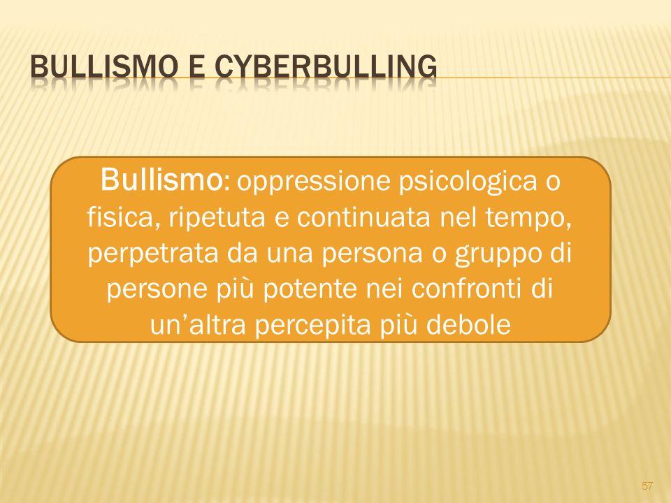 Bullismo e cyberbulling