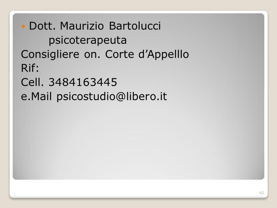 Dott. Maurizio Bartolucci