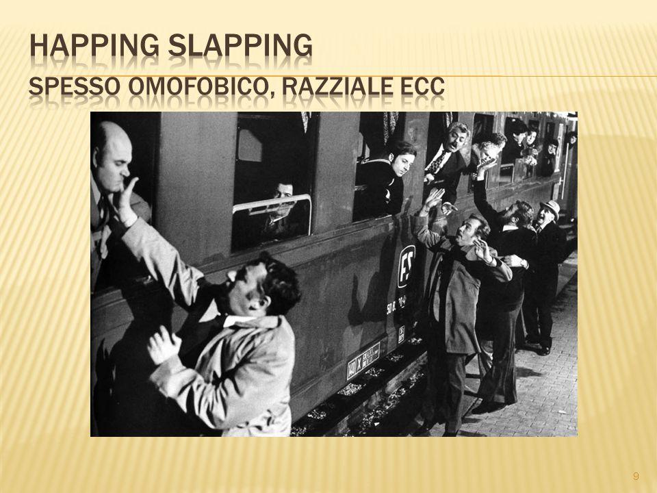 Happing slapping spesso omofobico, razziale ecc