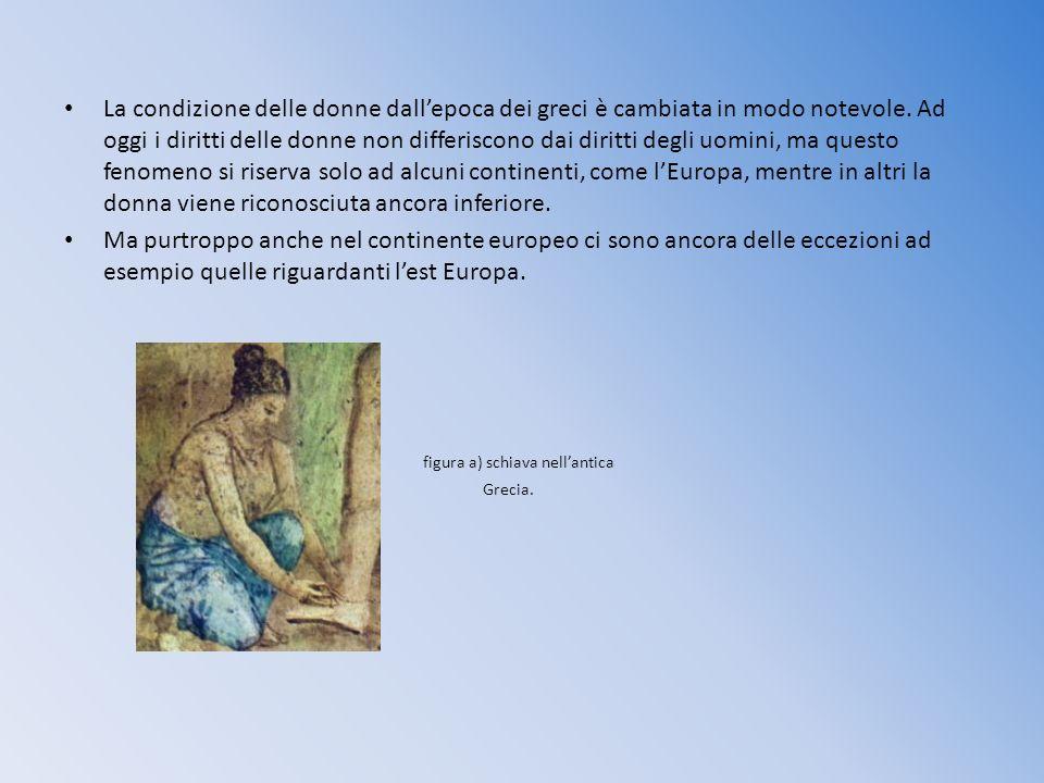 figura a) schiava nell'antica