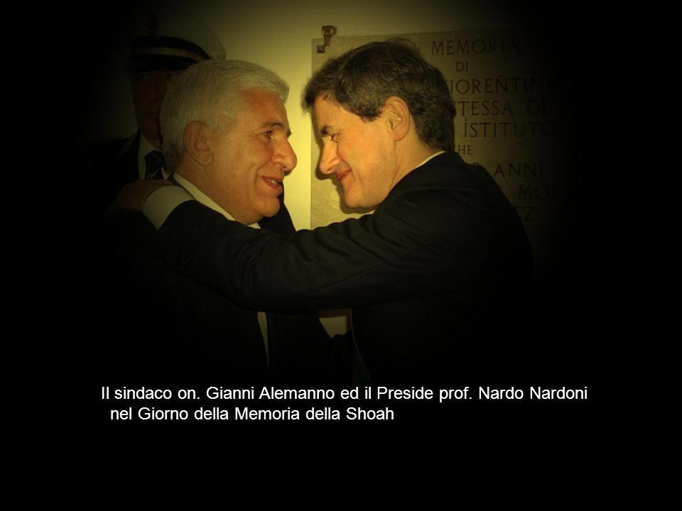 Il sindaco on. Gianni Alemanno ed il Preside prof. Nardo Nardoni