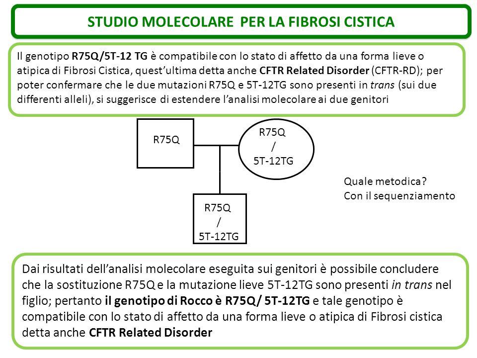 STUDIO MOLECOLARE PER LA FIBROSI CISTICA