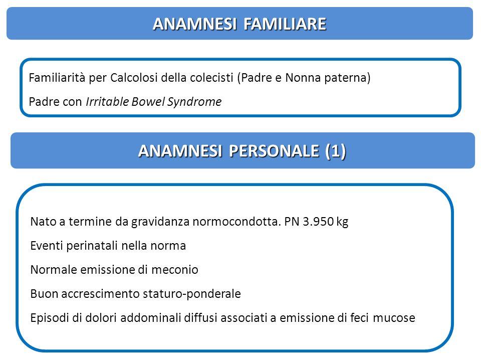 ANAMNESI FAMILIARE ANAMNESI PERSONALE (1)