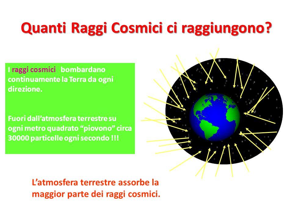 Quanti Raggi Cosmici ci raggiungono