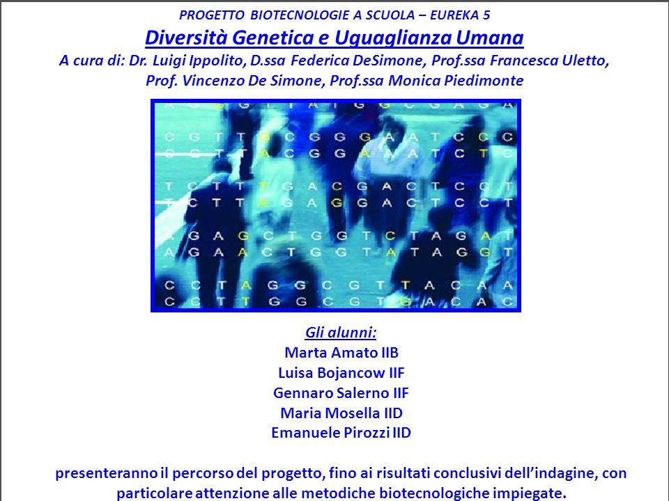 Diversità Genetica e Uguaglianza Umana