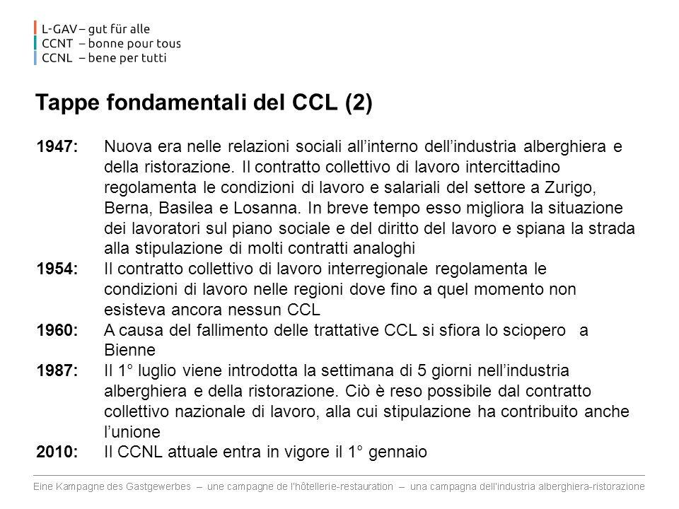 Tappe fondamentali del CCL (2)