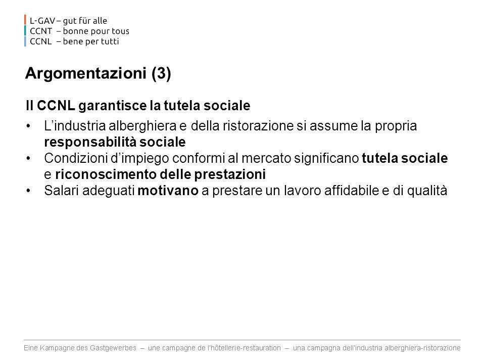 Argomentazioni (3) Il CCNL garantisce la tutela sociale