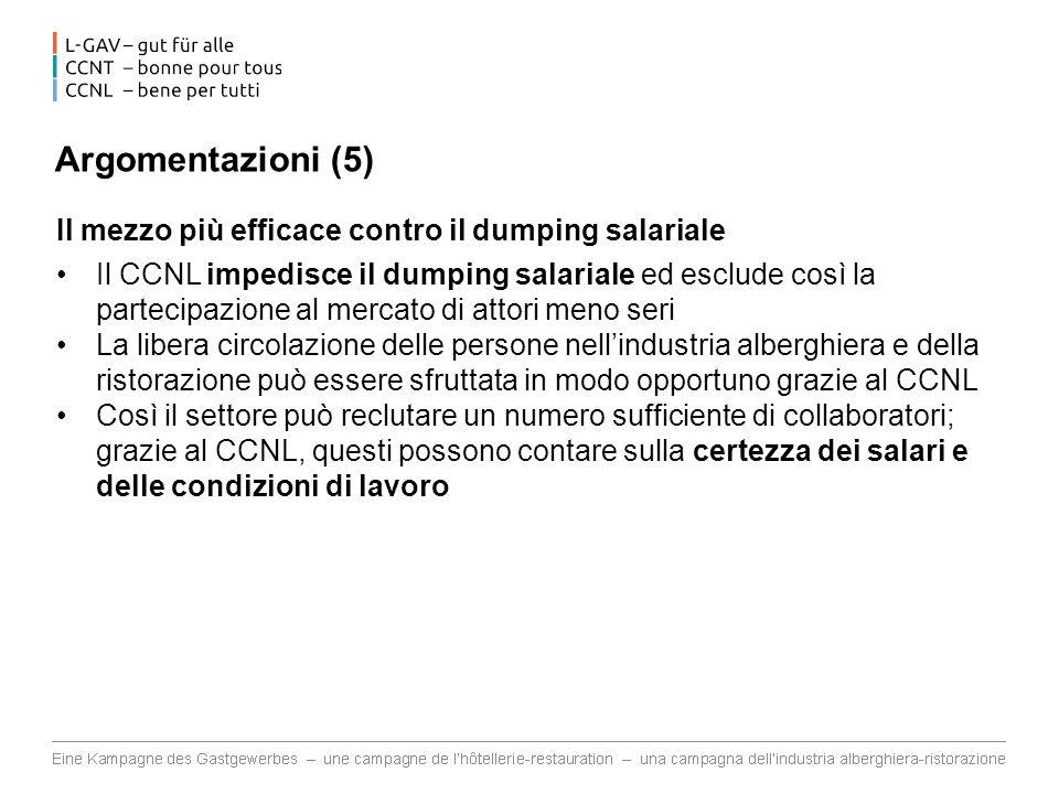 Argomentazioni (5) Il mezzo più efficace contro il dumping salariale