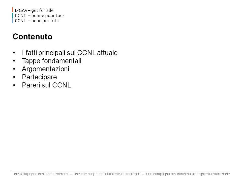 Contenuto I fatti principali sul CCNL attuale Tappe fondamentali