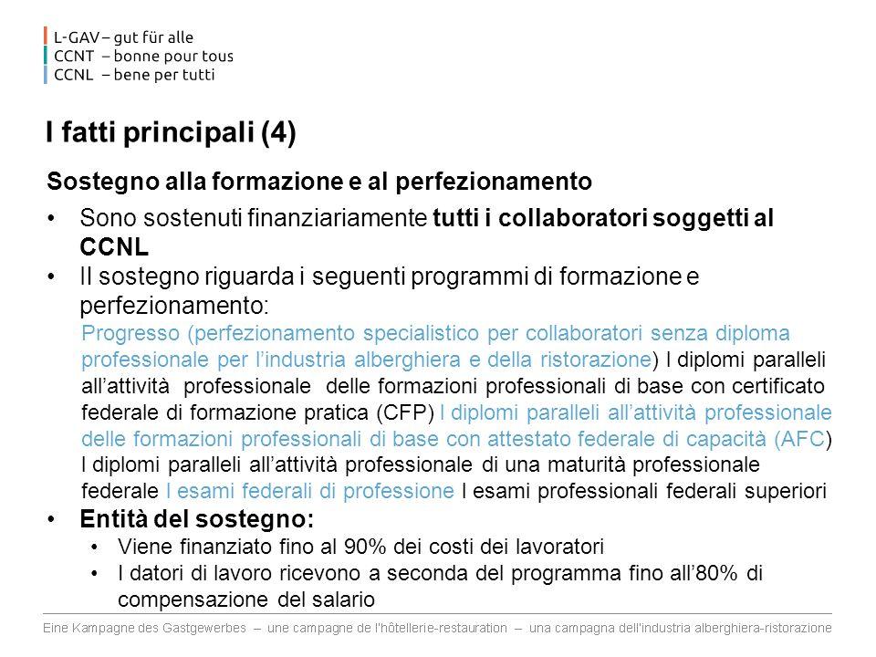 I fatti principali (4) Sostegno alla formazione e al perfezionamento